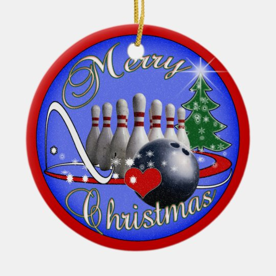 bowling christmas ornament zazzle com