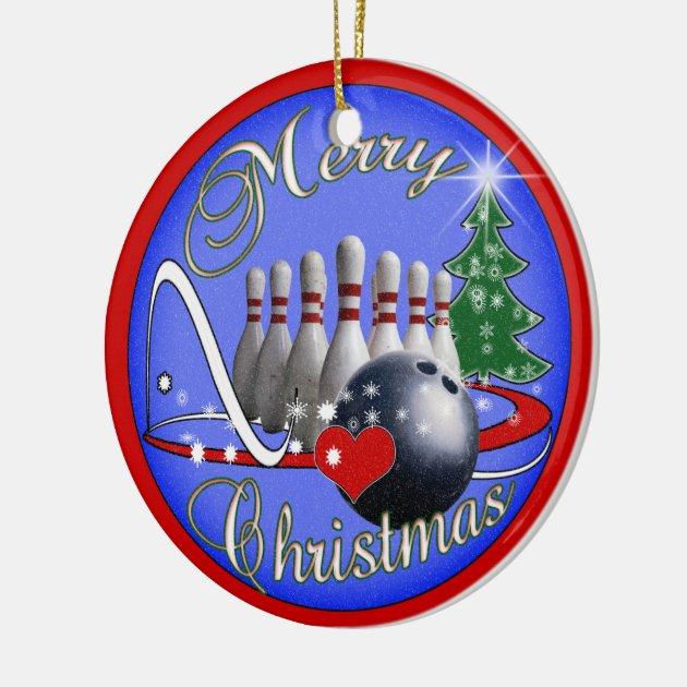 BOWLING CHRISTMAS ORNAMENT | Zazzle.com