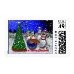 Bowling Christmas Postage Stamp