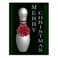 Bowling Christmas Postcard