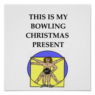 bowling christmas present print