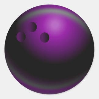 Bowling Classic Round Sticker