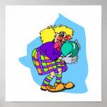 Bowling Clown Print