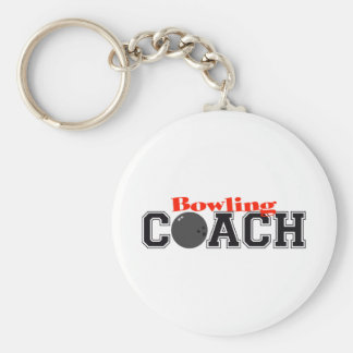Bowling Coach Basic Round Button Keychain