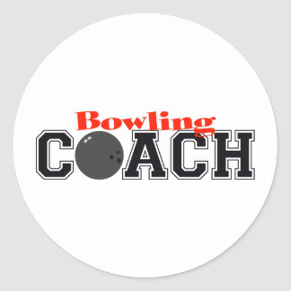 Bowling Coach Classic Round Sticker