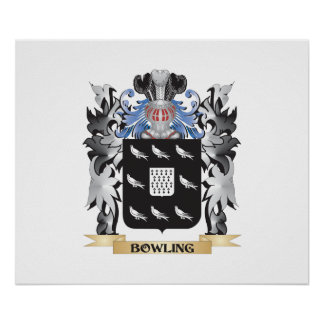 Bowling Coat of Arms - Family Crest Poster