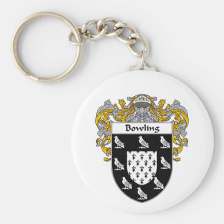 Bowling Coat of Arms (Mantled) Basic Round Button Keychain