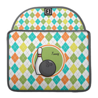 Bowling; Colorful Argyle Pattern Sleeve For MacBook Pro