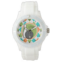 Bowling; Colorful Argyle Pattern Wrist Watch