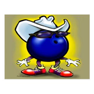 Bowling Cowboy Postcard