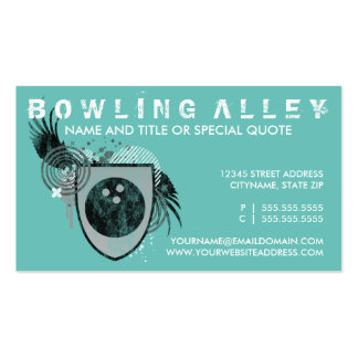 bowling crest (color customizable) Double-Sided standard business cards (Pack of 100)