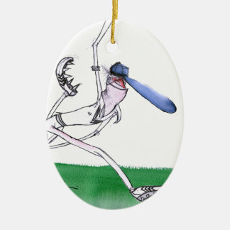 BOWLING - cricket, tony fernandes Ceramic Ornament