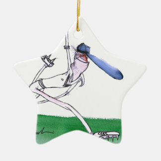 BOWLING - cricket, tony fernandes Double-Sided Star Ceramic Christmas Ornament