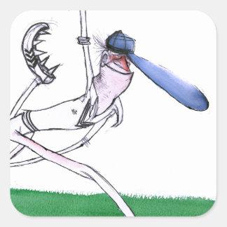 BOWLING - cricket, tony fernandes Square Sticker