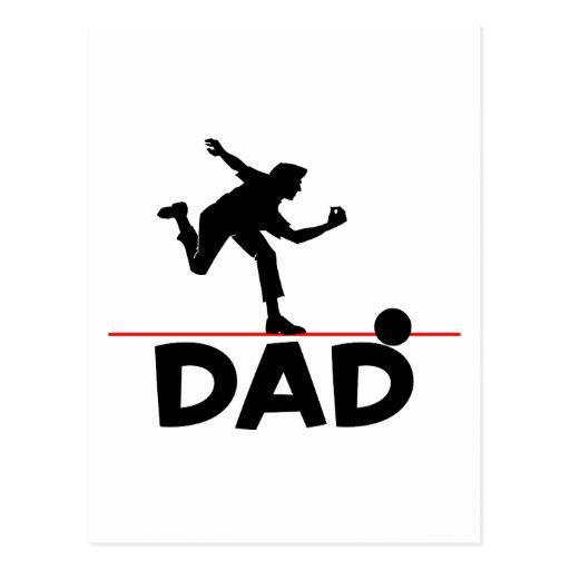Bowling Dad Postcard