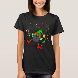 Bowling Dancing Christmas Elf T-Shirt