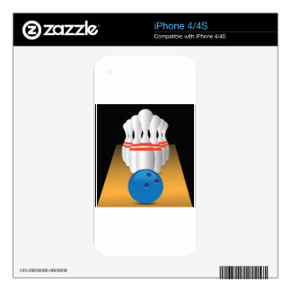 bowling decal for iPhone 4S