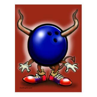 Bowling Demon Postcard