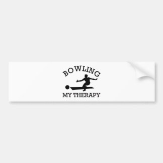 bowling design bumper sticker