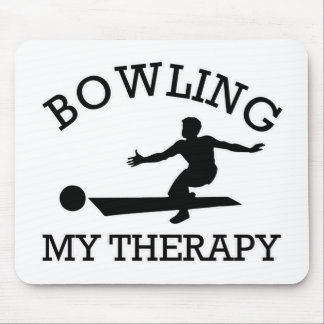 bowling design mouse pad