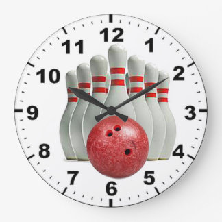 """Bowling"" design wall clock"