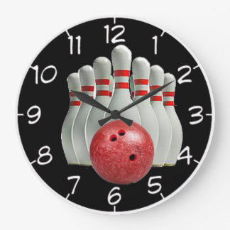 """Bowling"" design wall clocks"
