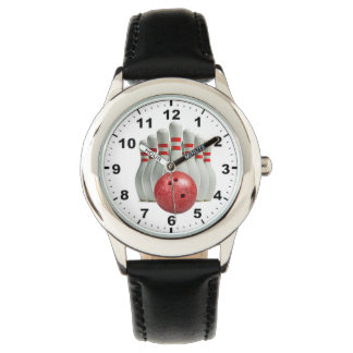 """Bowling"" design wrist watches"