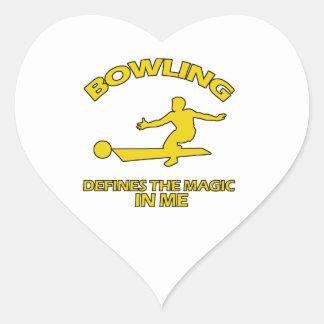 bowling DESIGNS Heart Sticker
