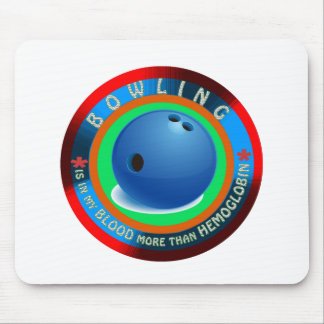 Bowling designs mouse pad