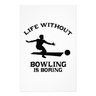 Bowling DESIGNS Stationery