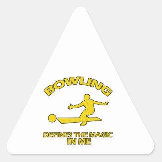 bowling DESIGNS Triangle Sticker