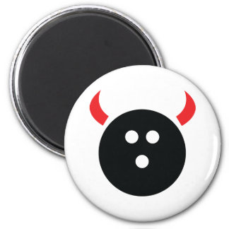 Bowling Devil 2 Inch Round Magnet