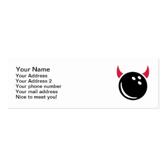 Bowling devil Double-Sided mini business cards (Pack of 20)