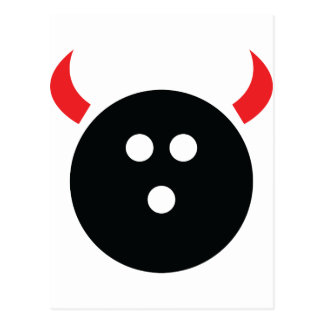 Bowling Devil Postcard