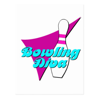 Bowling Diva Postcard