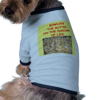 bowling doggie tee shirt