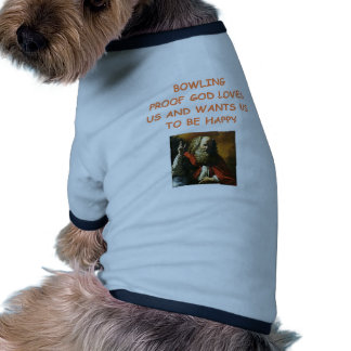 bowling dog t shirt