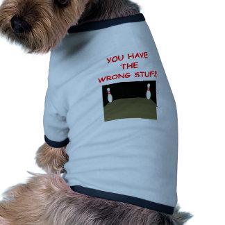 bowling pet t-shirt