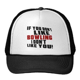 BOWLING Don't Like Trucker Hat