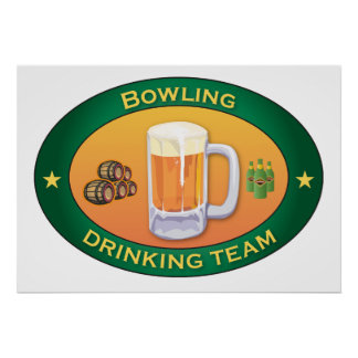 Bowling Drinking Team Poster