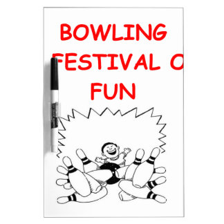 BOWLING Dry-Erase BOARDS