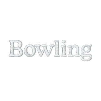 """""""Bowling"""" Embroidered Polo Shirts"""