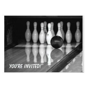 Bowling Event Invitations Announcements Zazzle