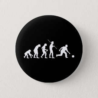 Bowling Evolution from Man to Bowler Button