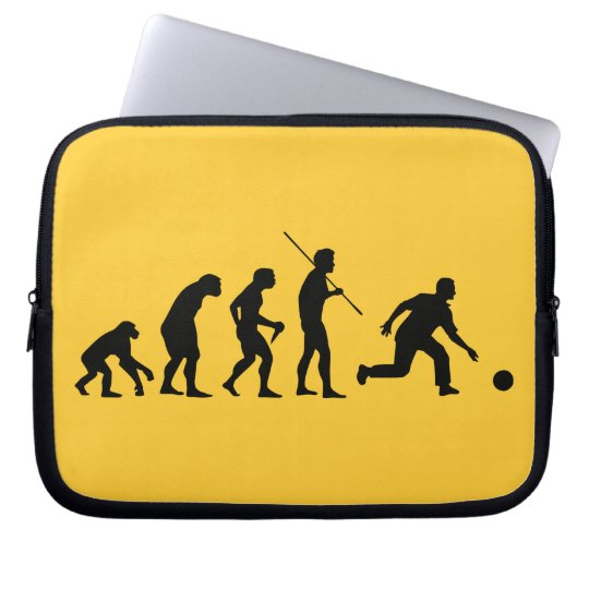 bowling evolution from man to bowler computer sleeve