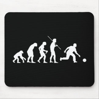 Bowling Evolution from Man to Bowler Mouse Pad