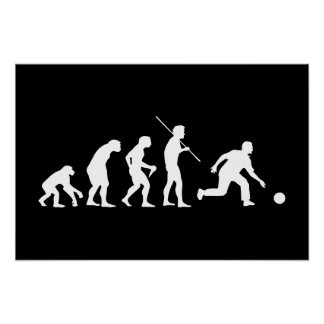 Bowling Evolution from Man to Bowler Print
