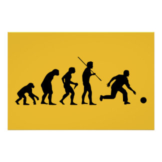 bowling evolution from man to bowler poster