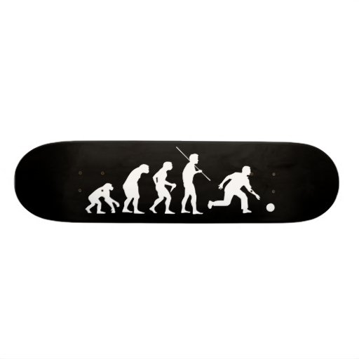 Bowling Evolution from Man to Bowler Skate Deck