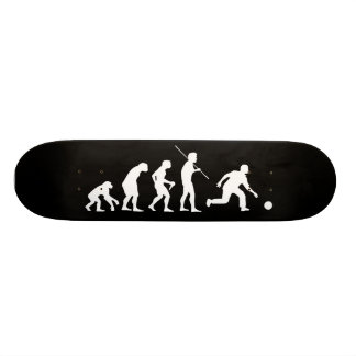 Bowling Evolution from Man to Bowler Skateboard